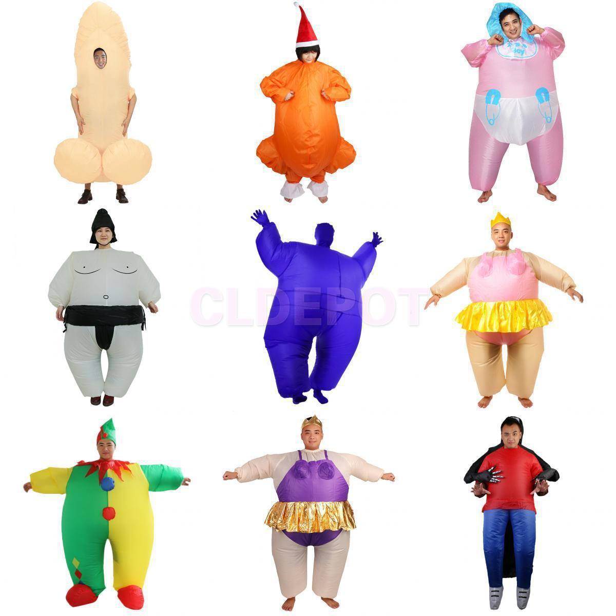 Inflatable Blow Up Full Body Costume Party Cosplay Hen Stag Suit.