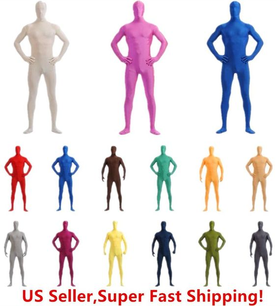 DH Zentai Suit Men's Spandex Lycra Halloween Full Body Costume #DH.