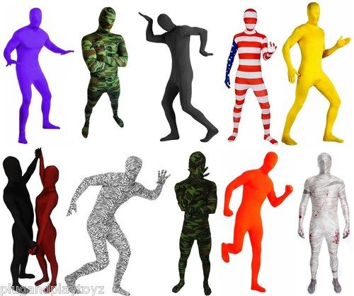 Details about Lycra Spandex Zentai Full Body Hood Suit Costume.