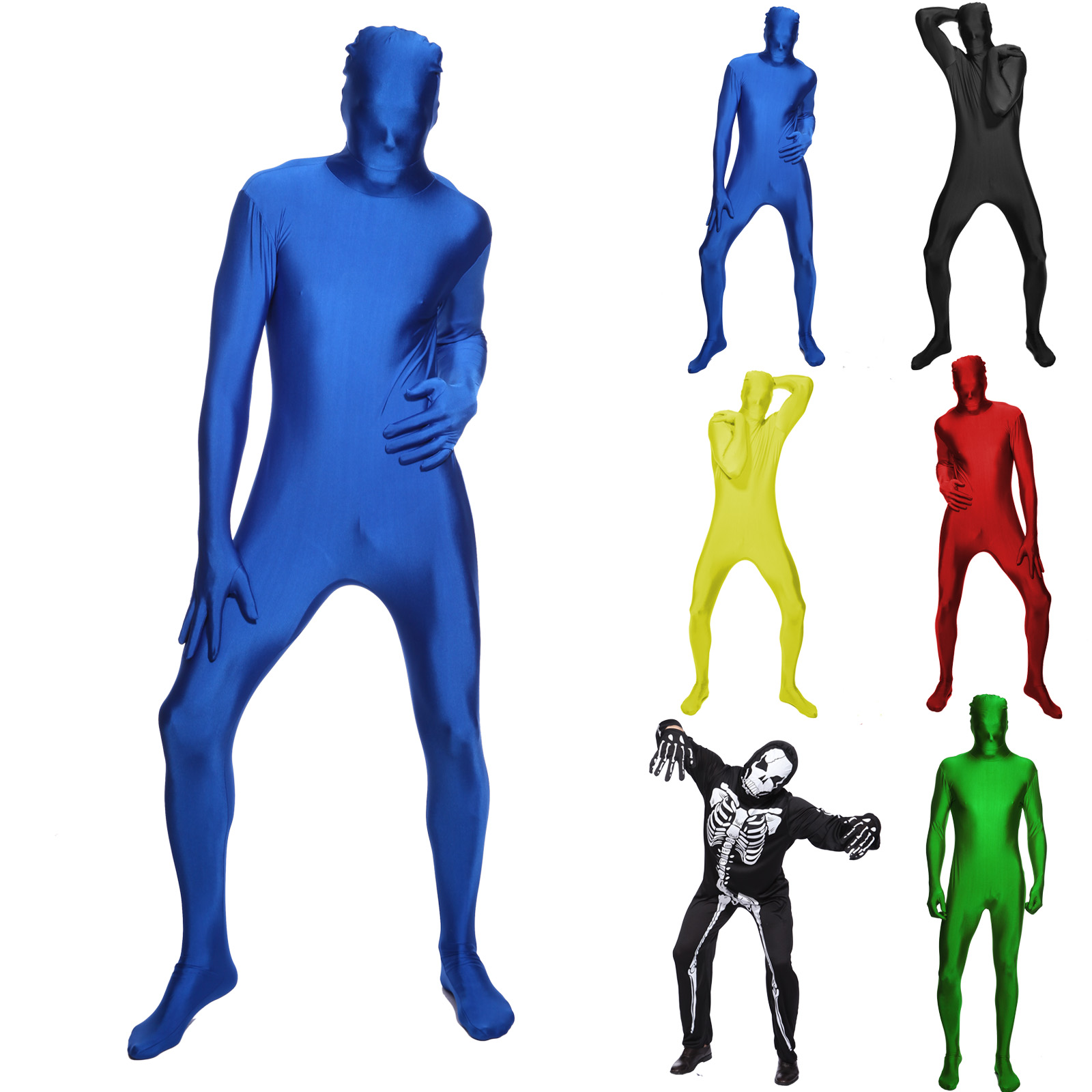 Morph Costume Full body Invisible Bodysuit Second skin Zentai.