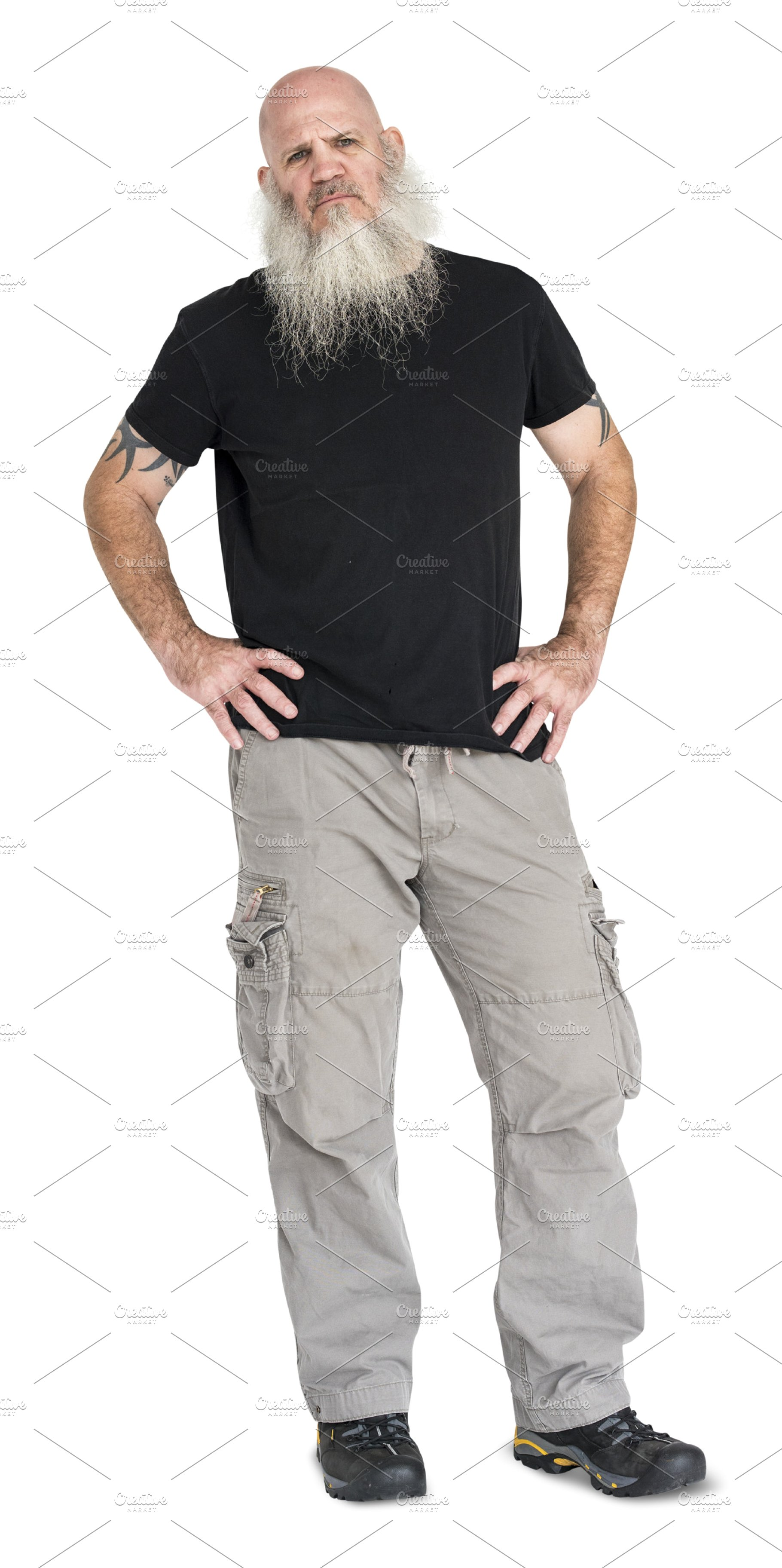 Man full body studio (PNG).