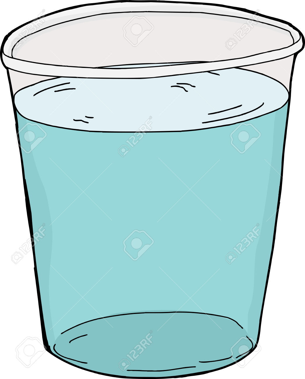 Glass Full Of Water Clipart.