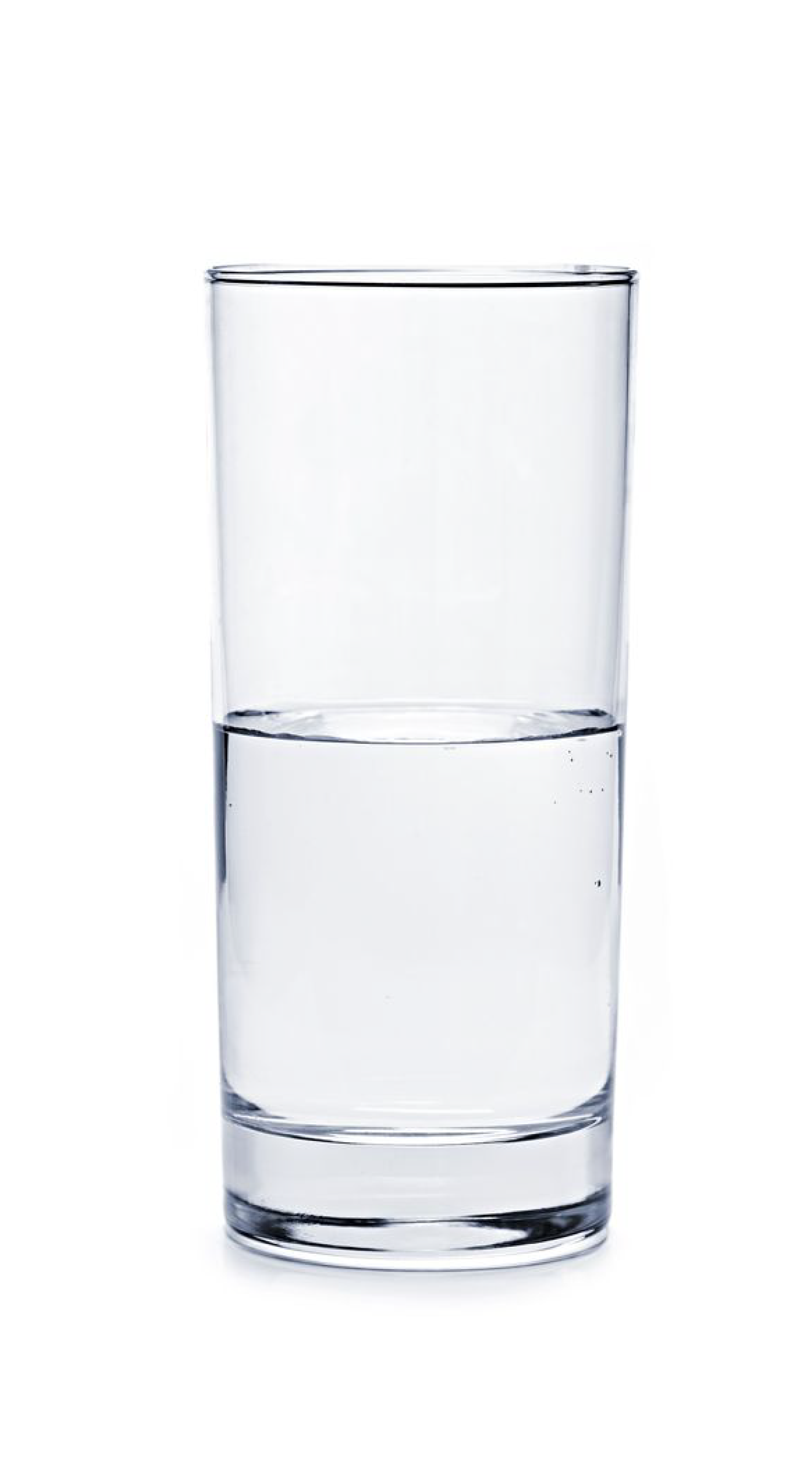 Is the glass half empty or half full? Cup Water Optimism.