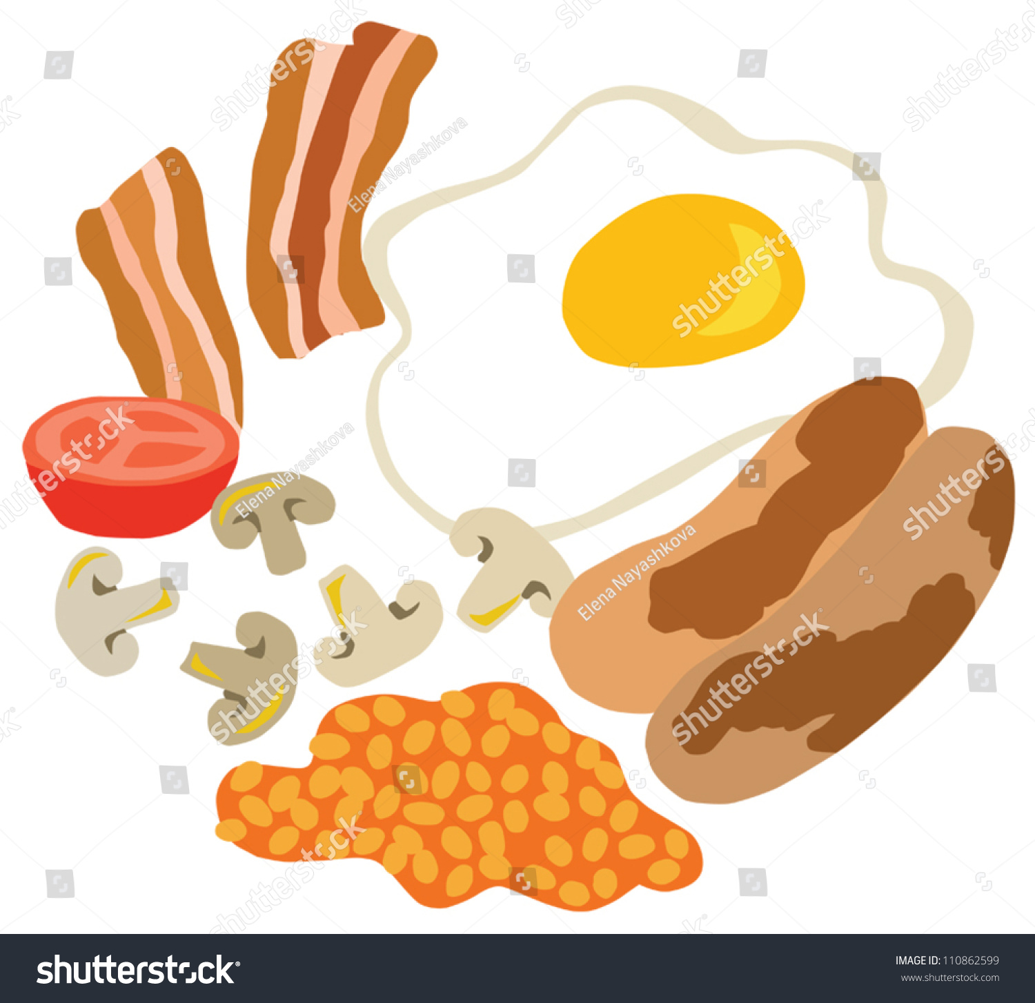 English breakfast clipart 4 » Clipart Station.