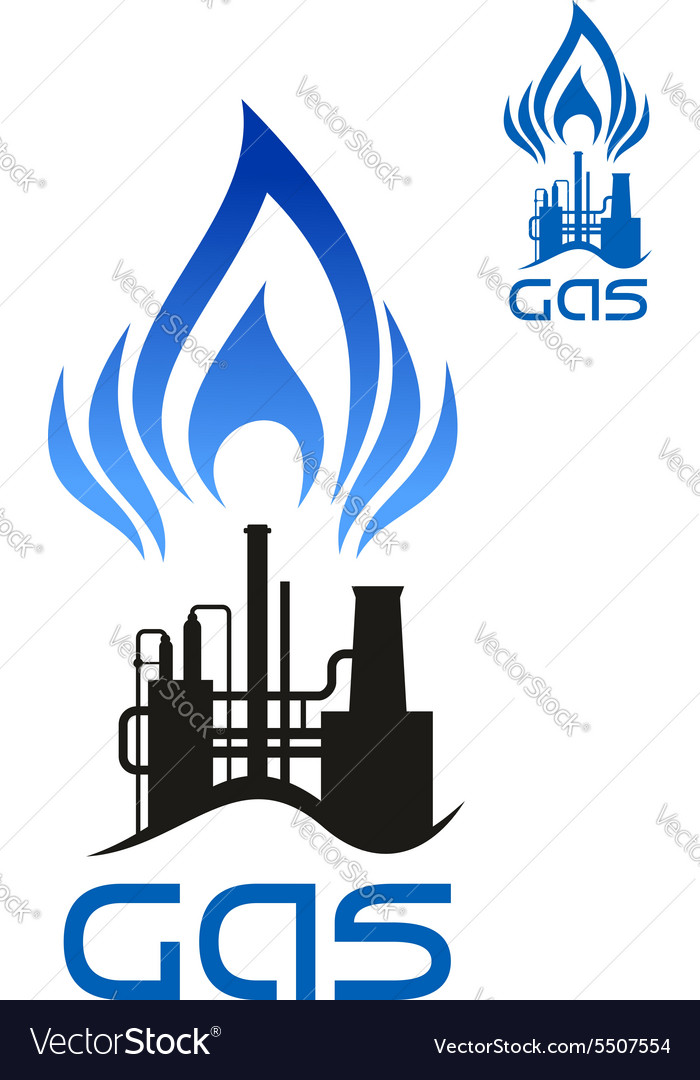 Oil and natural gas industrial factory.