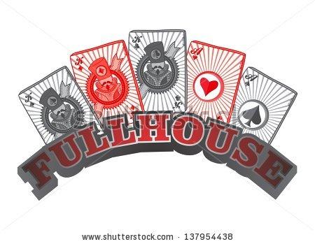 Poker Full House Art Stock Vector 137954438.