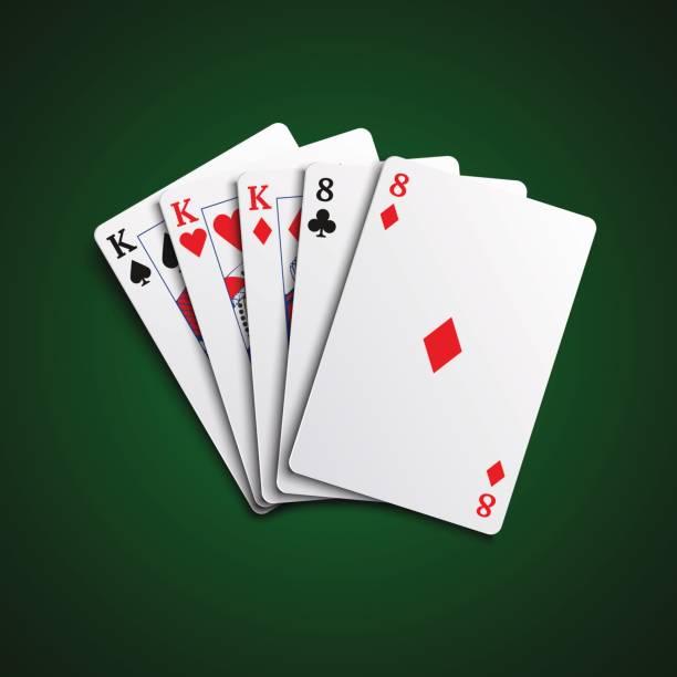 Full House Poker Clip Art, Vector Images & Illustrations.