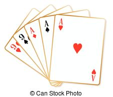 Clipart Vector of Poker cards full house illustration csp29404554.