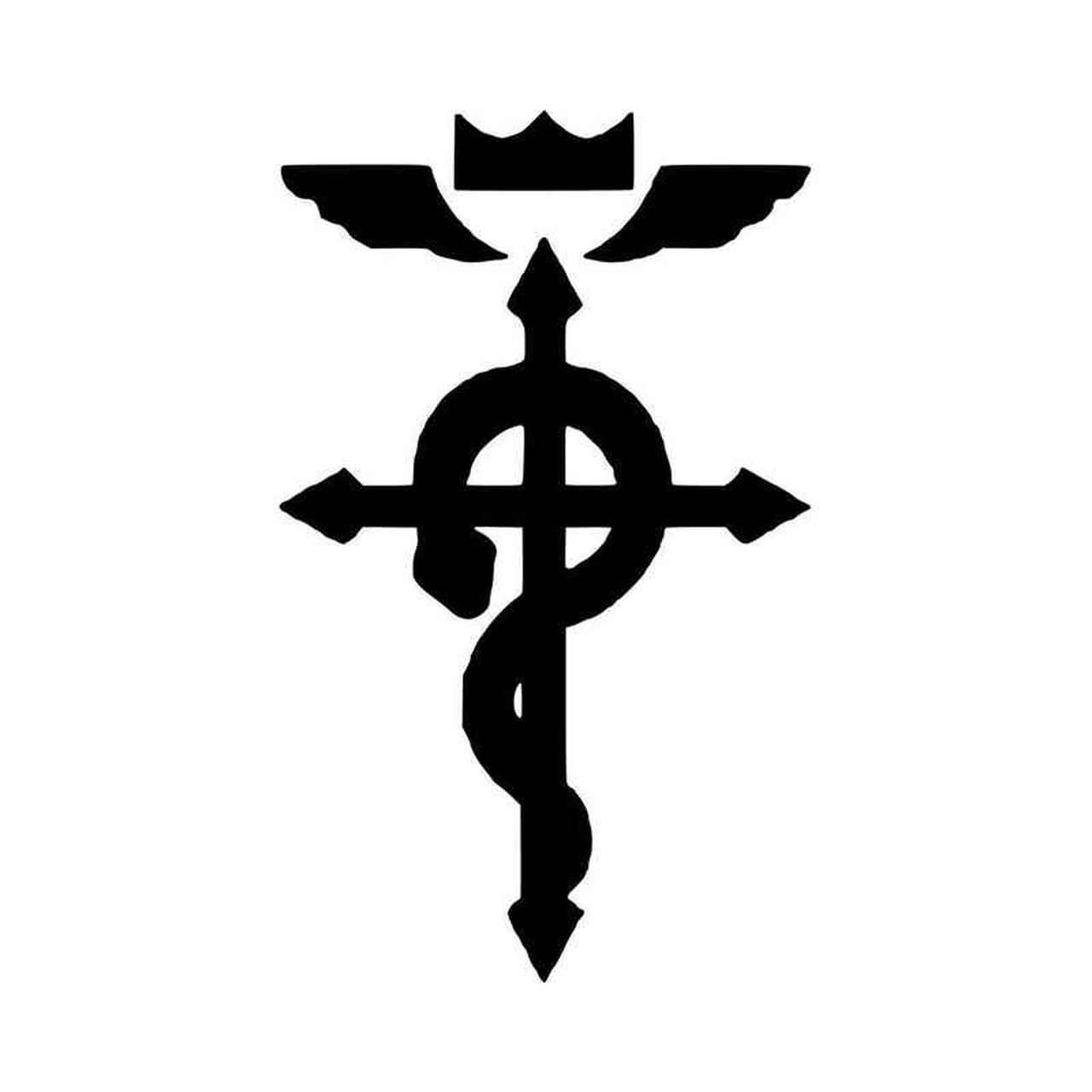 Fullmetal Alchemist Flamel Logo Vinyl Decal Sticker.