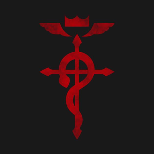 Fullmetal Alchemist logo red.