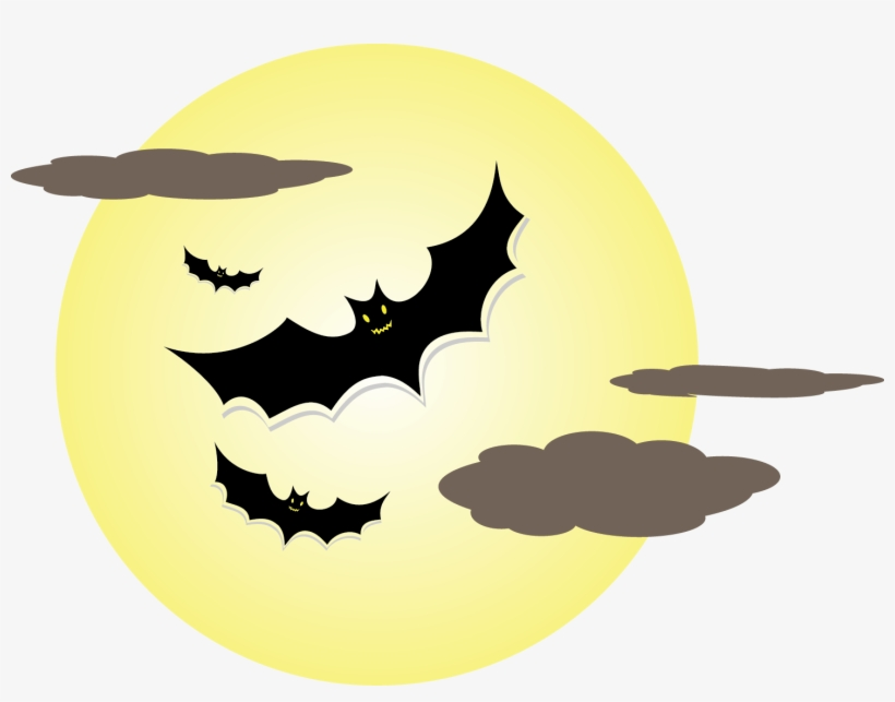 Halloween Transparent Full Moon Cartoon.