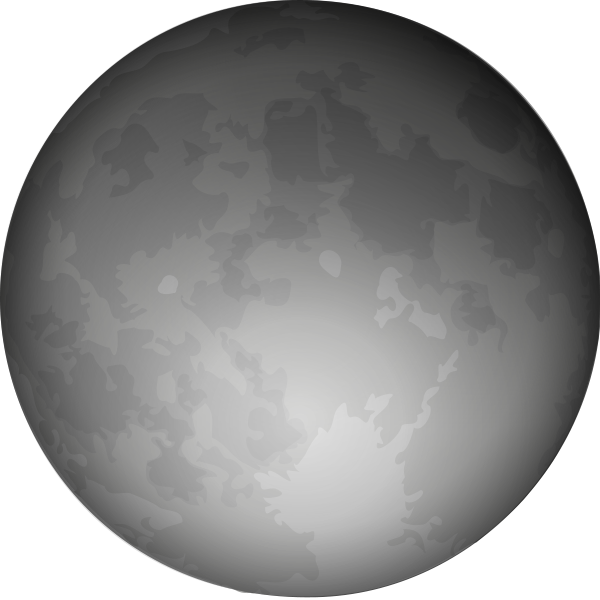 White Full Moon Clipart.