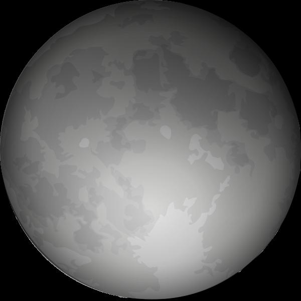 White Full Moon Clipart.