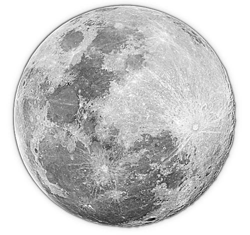 Free clipart full moon.