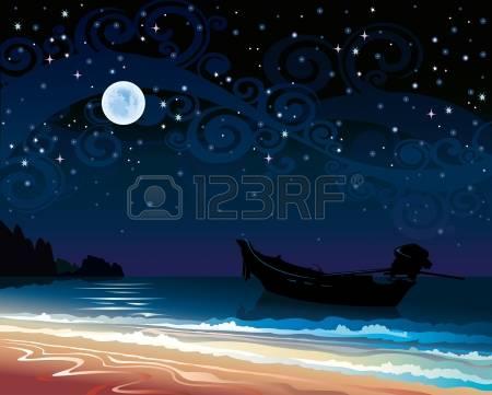 11,529 Full Moon Night Stock Vector Illustration And Royalty Free.