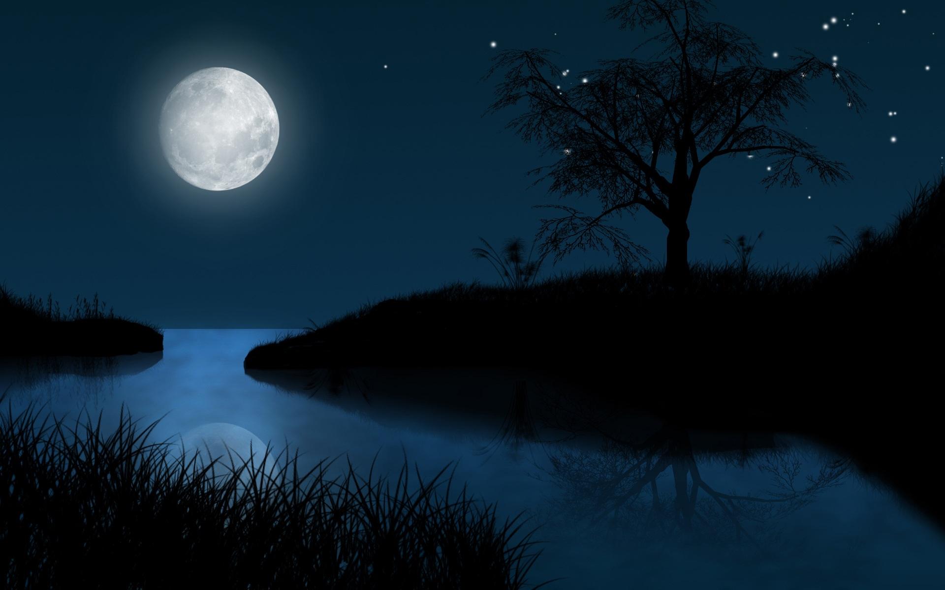 Free clipart full moon.