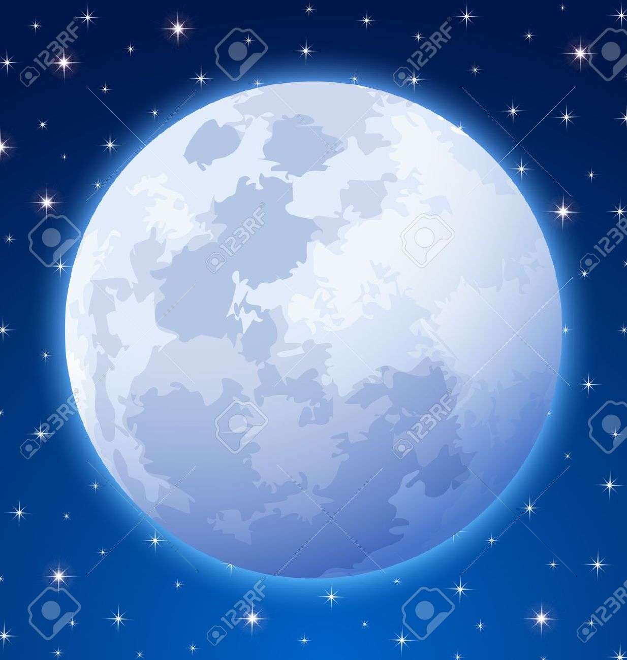 Full moon night clipart - Clipground