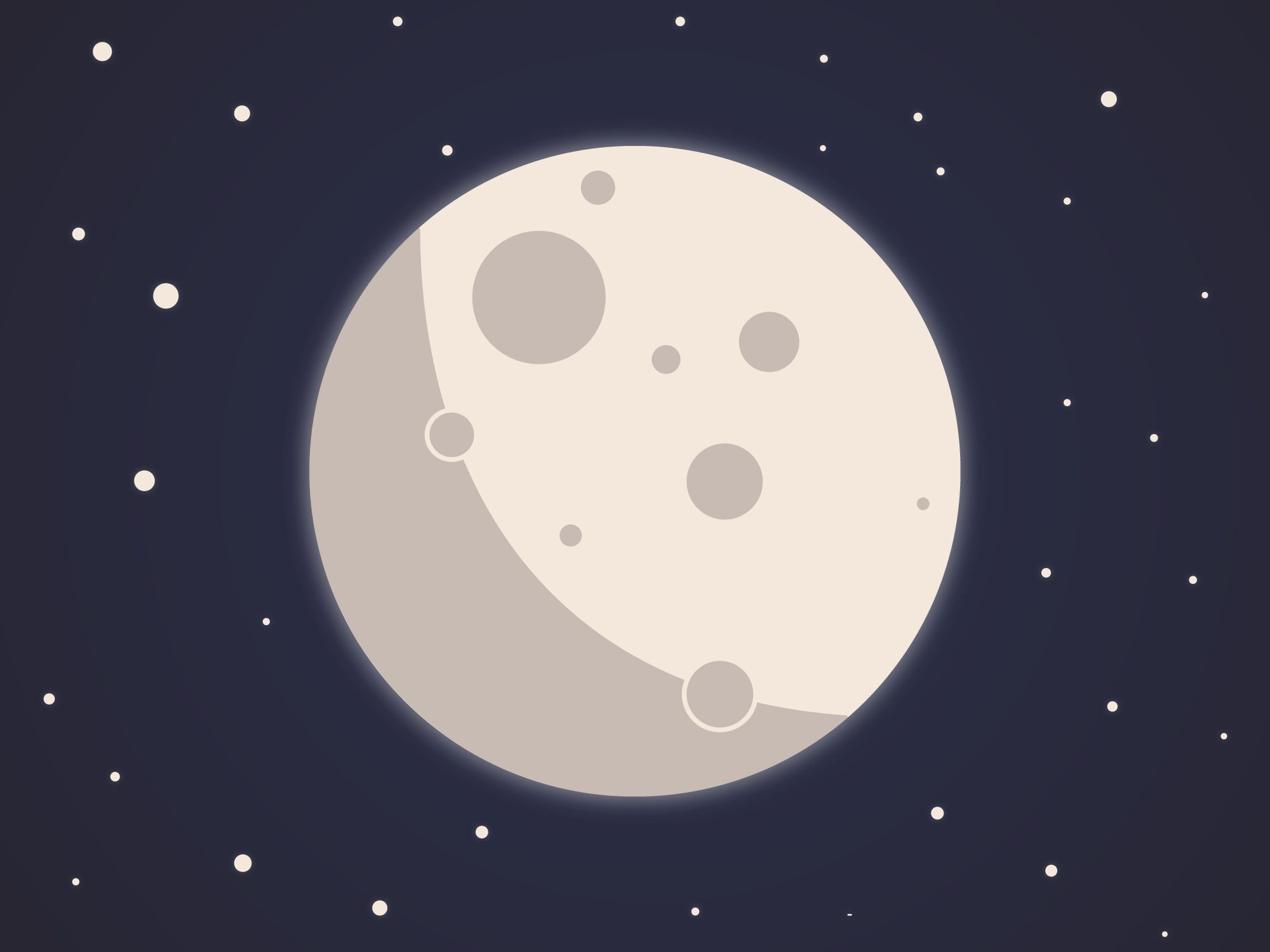 The Moon vector design minimal.