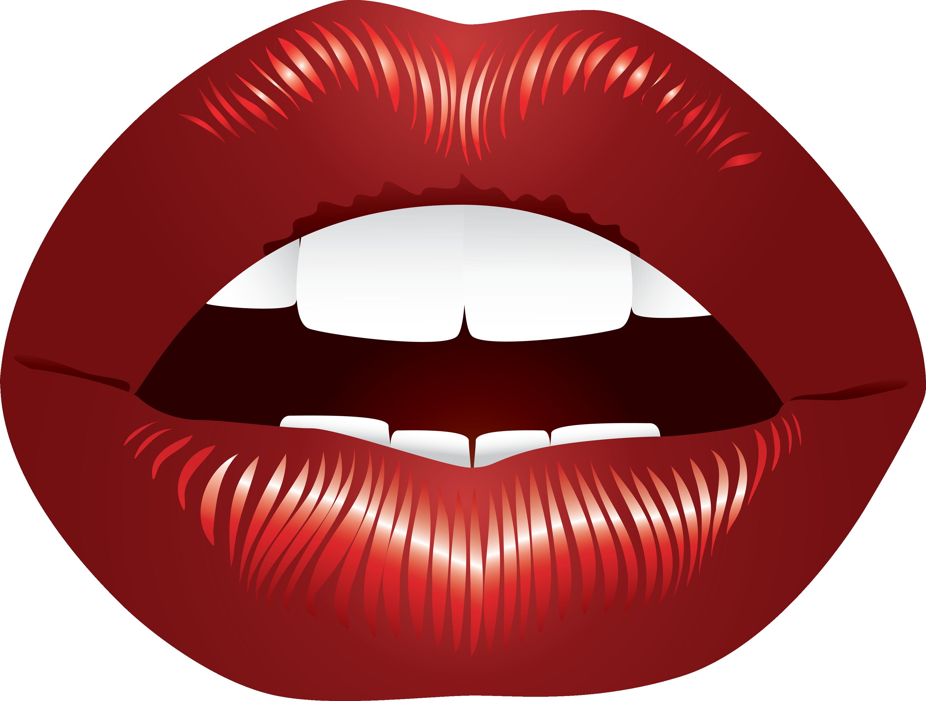 Woman Lips Seven.