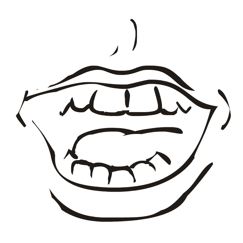 Talking Mouth Clip Art.