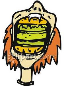 Mouth full clipart.