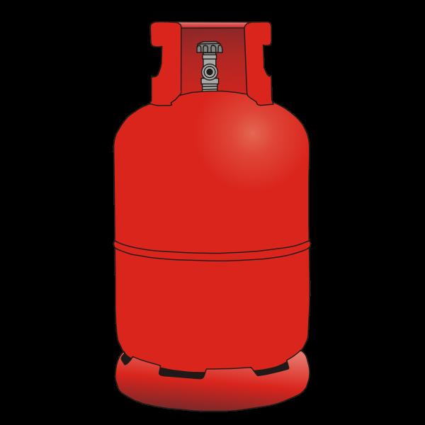 Vector clip art of gas bottle 12kg.