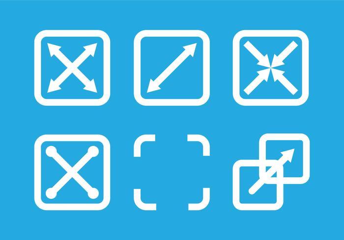 Full screen icon vectors.