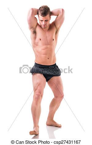 Muscular man clipart full body.