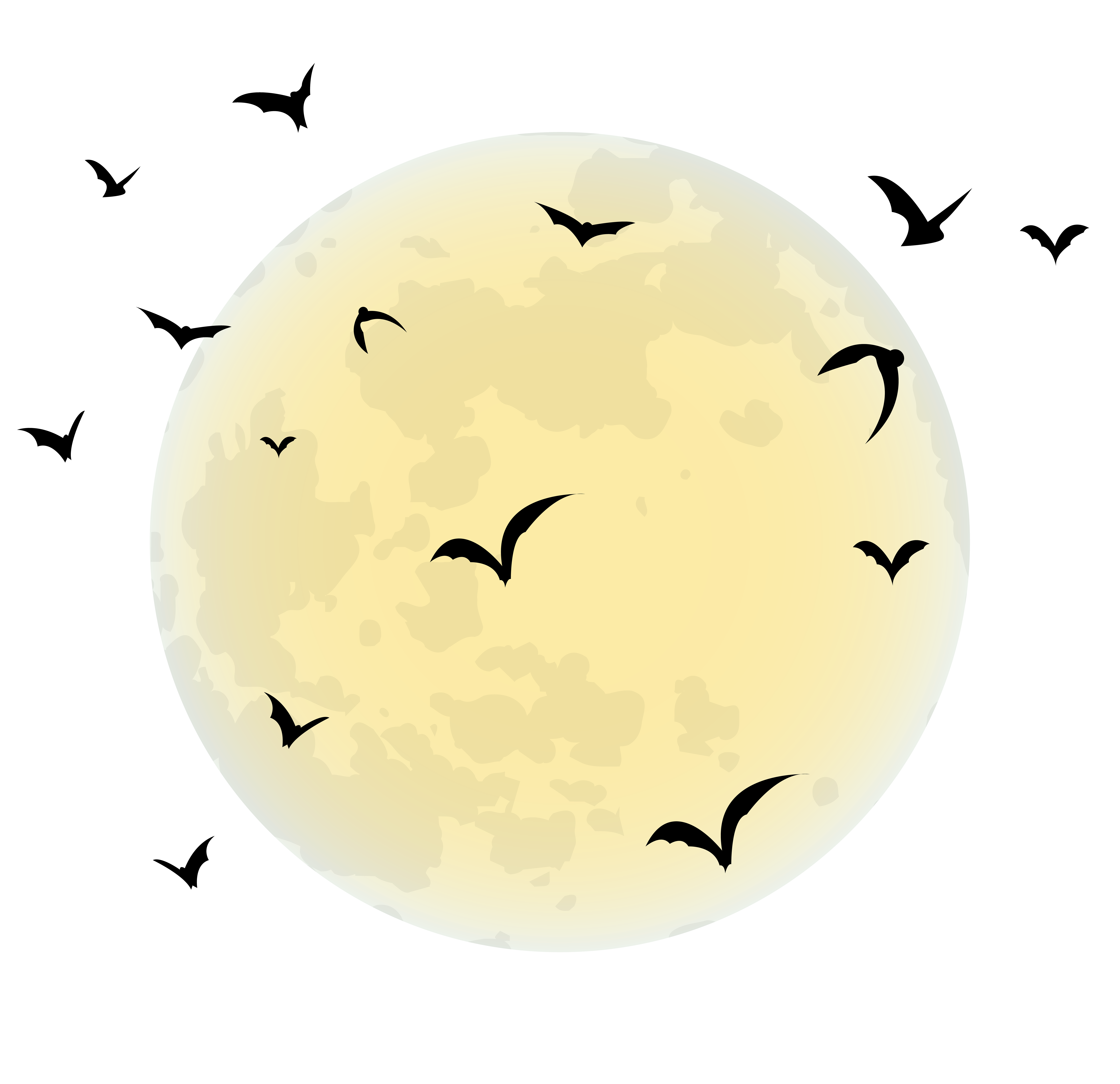 Halloween Full moon Clip art.