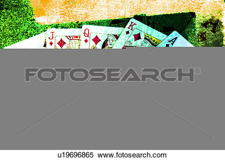Stock Illustration of Royal Flush full view u19696865.