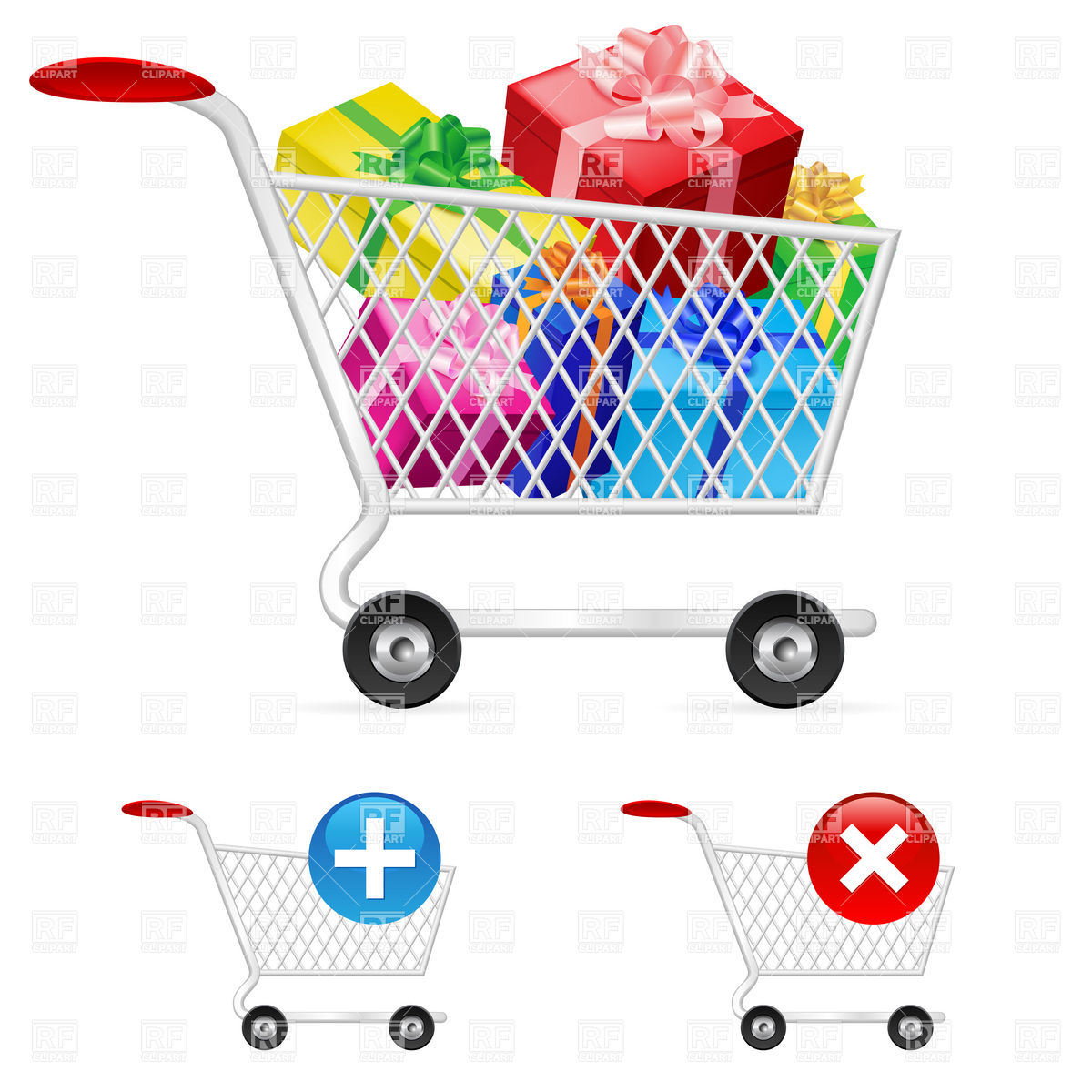 Shopping cart full gifts Vector Image #8053.