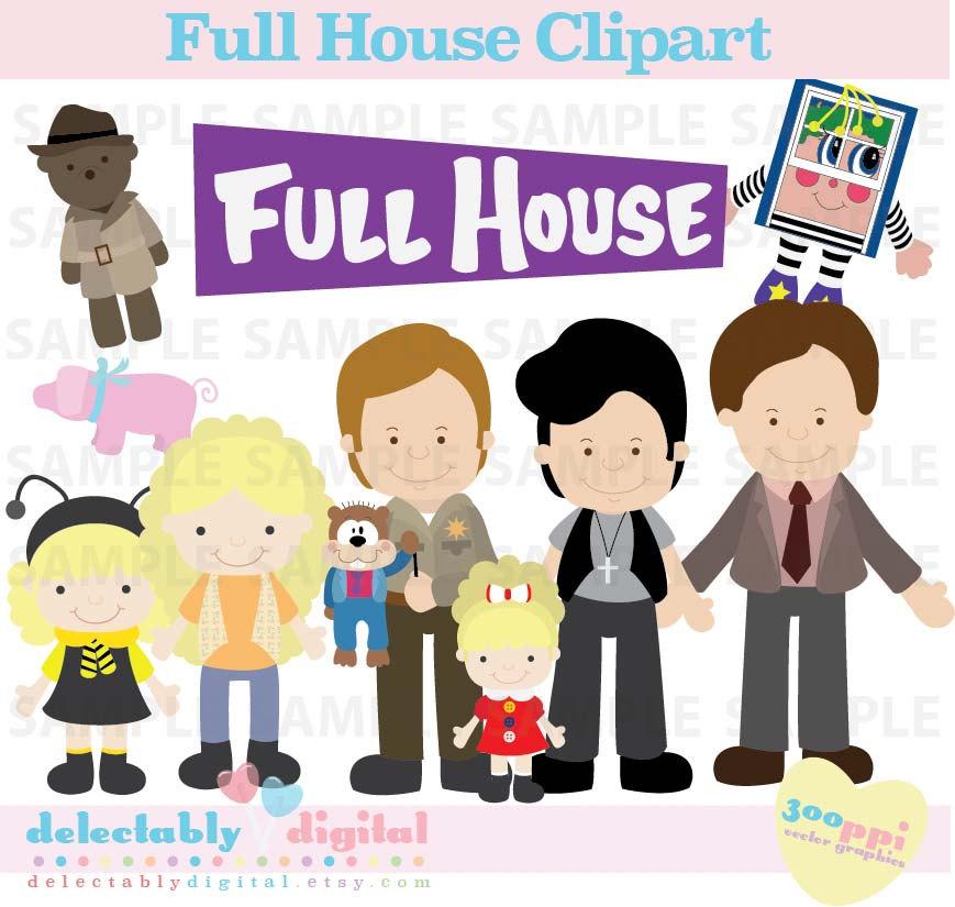 Clipart full house.