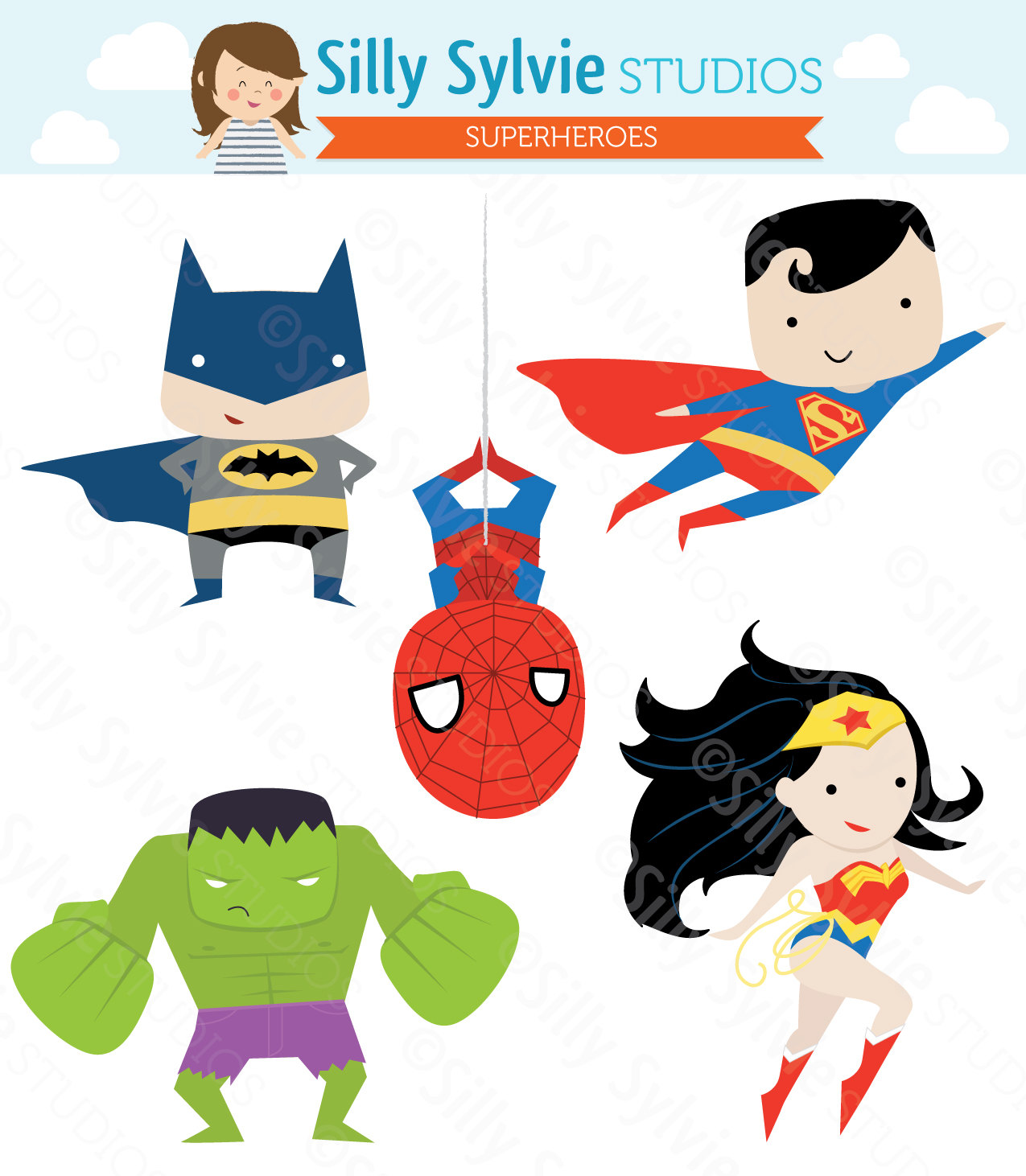 Clipart full hd super heroes.