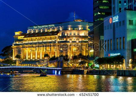 Singapore Fullerton Stock Photos, Royalty.