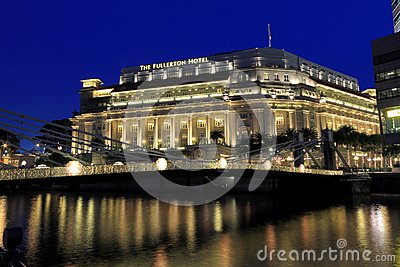 Fullerton Hotel Singapore Editorial Photography.