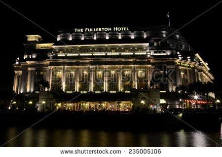 Fullerton Hotel Stock Photos, Royalty.