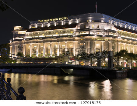Fullerton Hotel Stock Photos, Royalty.
