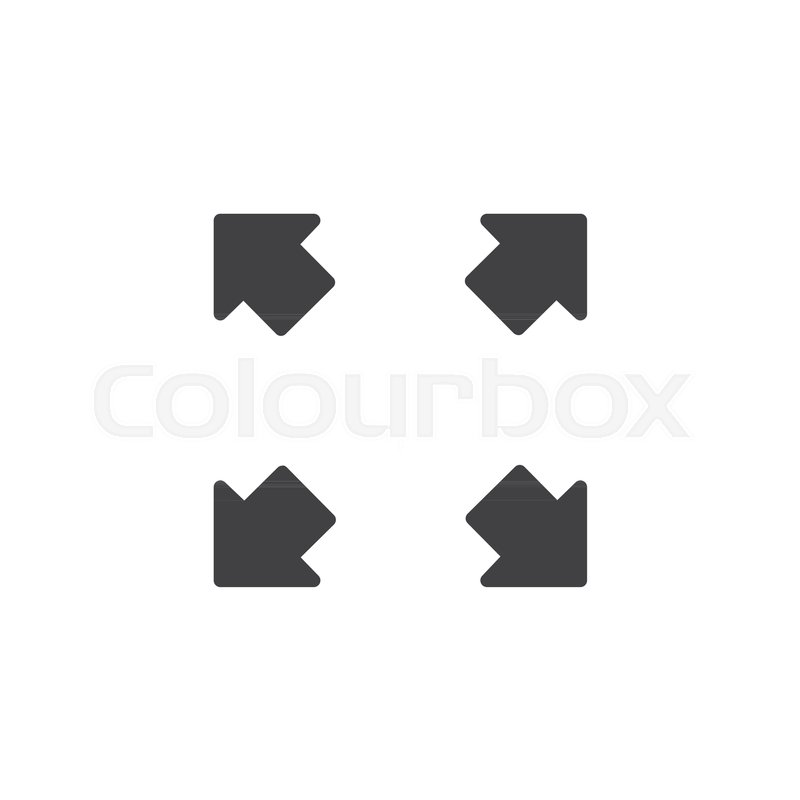 Fullscreen vector icon. filled flat.
