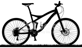 Full Suspension Mountain Bike stock vectors.