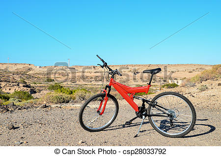 Stock Photographs of Full Suspension Mountain Bike.