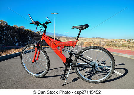 Stock Images of Full Suspension Mountain Bike.