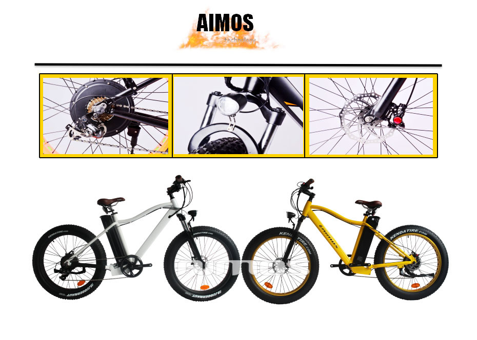 "Aimos Seagull Gl Powfu 26"" Electrical Bicycle Full Suspension."