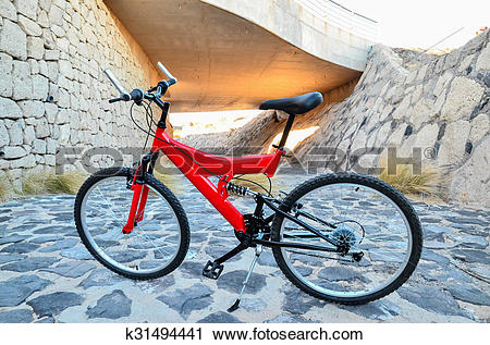 Stock Photography of Full Suspension Mountain Bike k31494441.