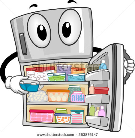 Clipart Illustration Refrigerator Stock Photos, Royalty.