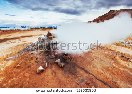 Fumarole Stock Photos, Royalty.