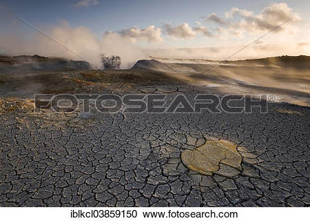 "Stock Photography of ""Fumarole in the high temperature geothermal."