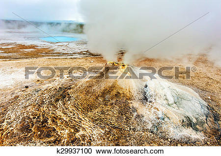 Stock Photography of Fumarole k29937100.