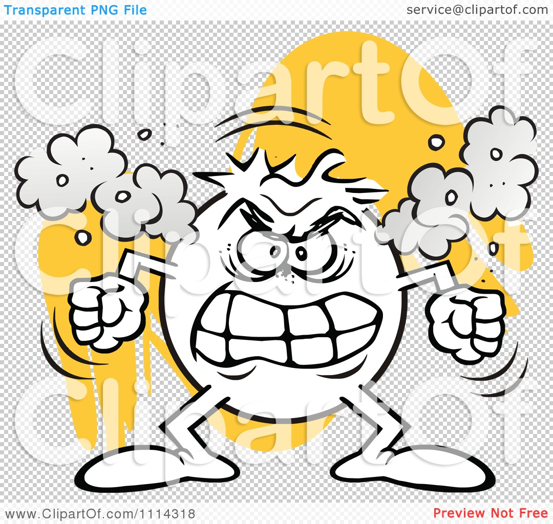 Clipart Angry Moodie Character Fuming.