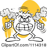 Angry fumes clipart.