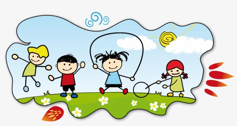 Children Fun Clipart Kids Join Activities Clipart Black.